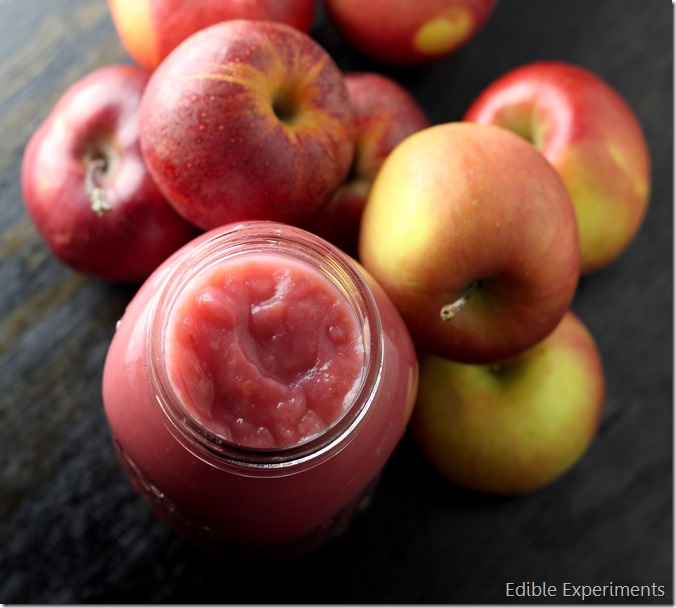 Easy Pink Apple Sauce
