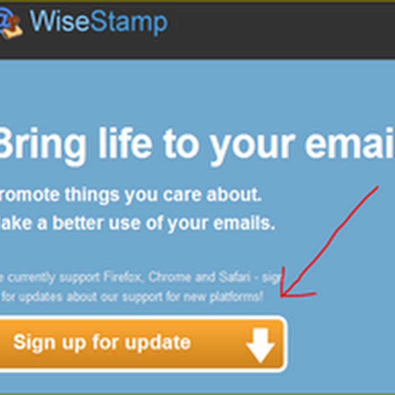 สร้างลายเซ็นต์ในอีเมล์ด้วย  WiseStamp