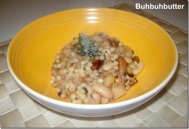 Zuppa di farro, ceci e fagioli