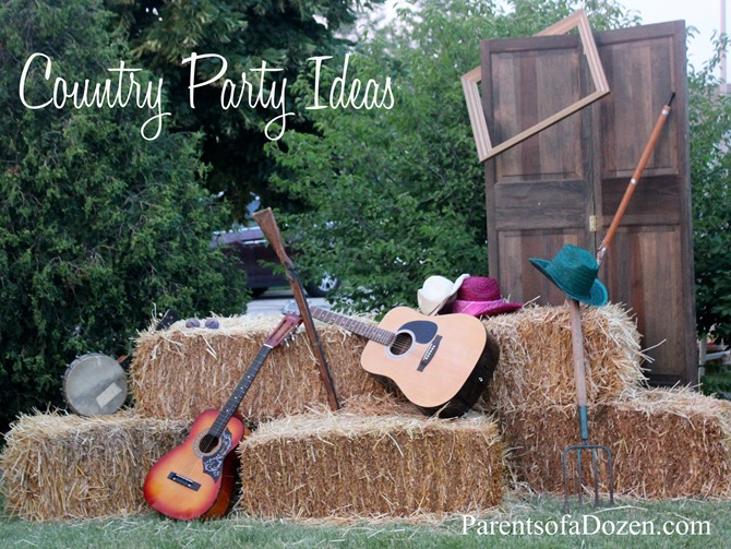 Several Country Party Ideas, from decor to food to activities!