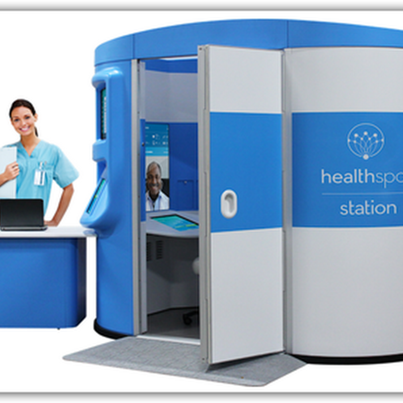 10 Foot TeleHealth Clinics That Can be Placed Anywhere, Healthspot Doc in the Box