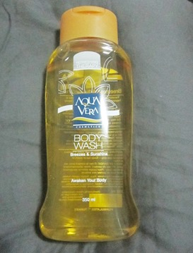 aqua vera body wash breezes and sunshine, bitsandtreats