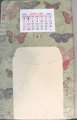 pamphlet book 5 hole inside cover calendar pocket