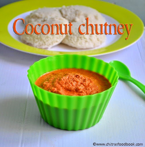 easy red coconut chutney