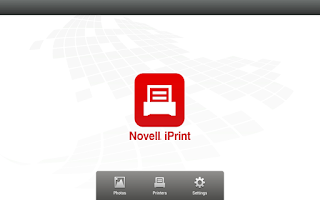 Screenshot of Novell iPrint