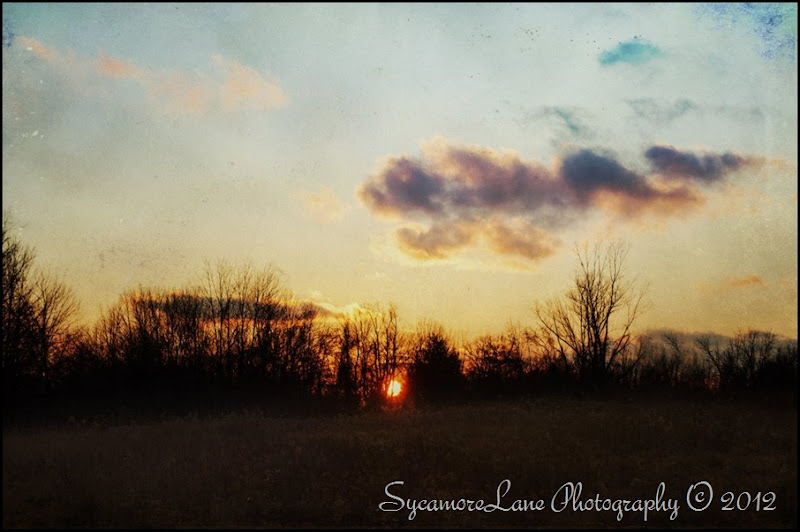December 2012-textured sunset