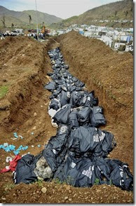 Yolanda - mass grave