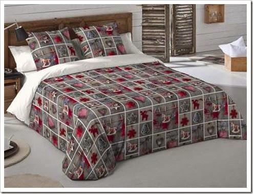 festive bedding.
