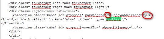 Extra linklist html