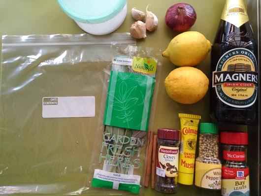 Cider Marinade ingredients