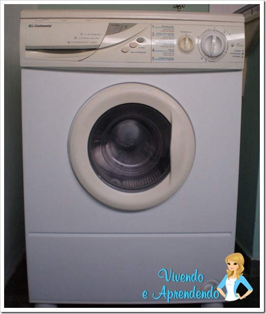 Limpando a máquina de lavar