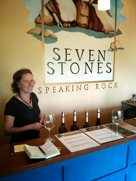 There's no mistaking where you are in Seven Stones' Tasting Room