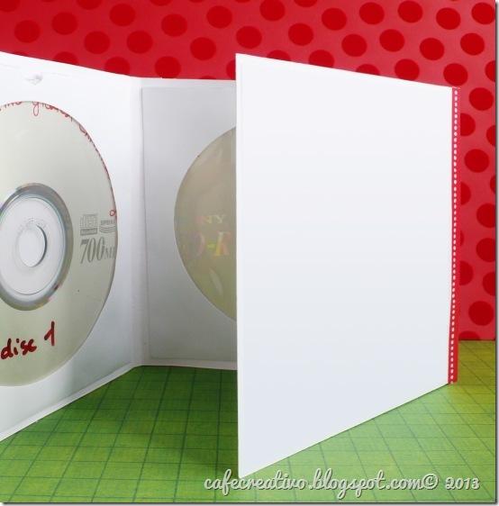 cafecreativo - Natale - card cd tree - biglietto albero gufetti 3