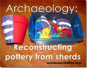 archaeology pottery sherds kids