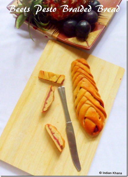 Pesto braided bread recipe