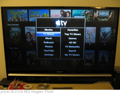 'Apple TV Menu' photo (c) 2008, MG Siegler - license: http://creativecommons.org/licenses/by/2.0/