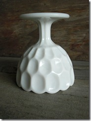 fenton thumbprint milk glass