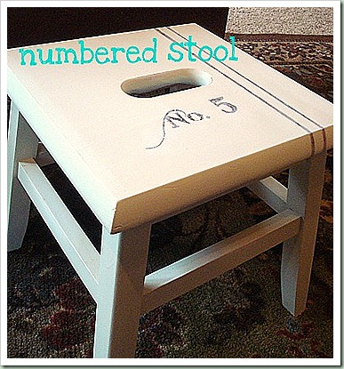 northern cottage numbered stool