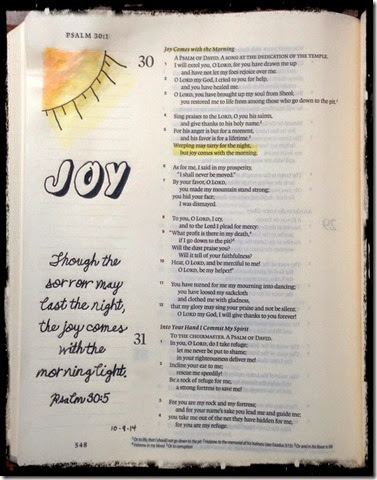 Joy in the Morning Bible Page