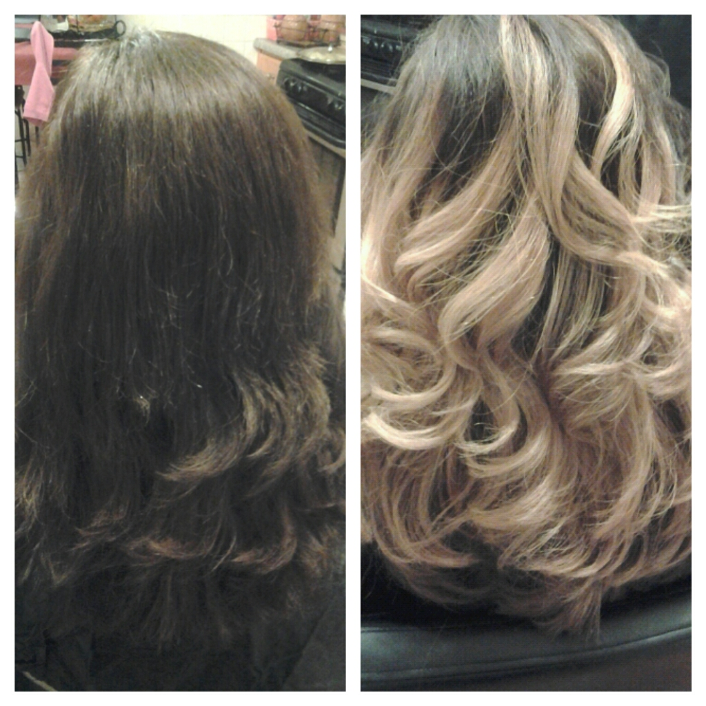 Healthy Hair Is Beautiful Hair Before And After Blonde Ombre