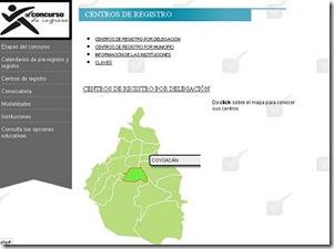 centros de registro de comipems 2013 2014 2015