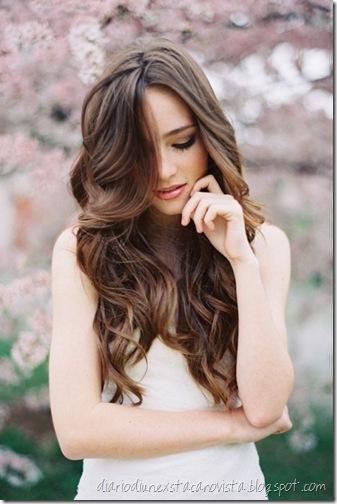 brown wavy hair