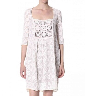 #576 Chiffon dress chalk