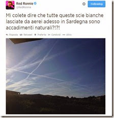 Tweet di Red Ronnie