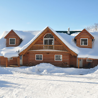 Wing style Ecolog home in Haliburton county - winter wonderland !