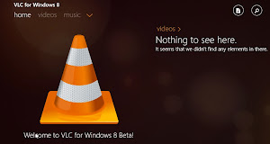 VLC in Microsoft Windows 8.1