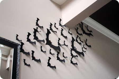 bat cut outs on wall