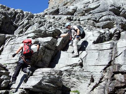 07-alpiner Abstieg beim Rotstock-Klettersteig