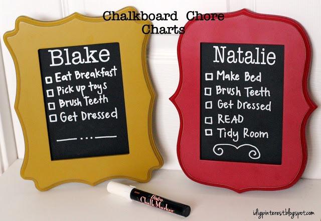 diy chalkboard chore charts