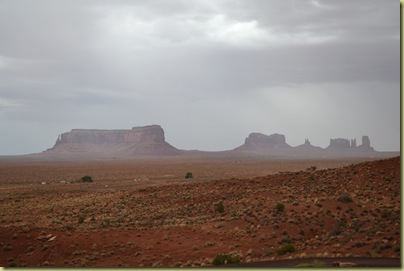 Rain over Monument Valley