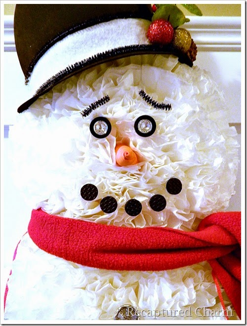 coffee filter snowman 32