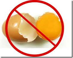 say no to eggs