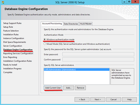 SQL-database-engine-configuration