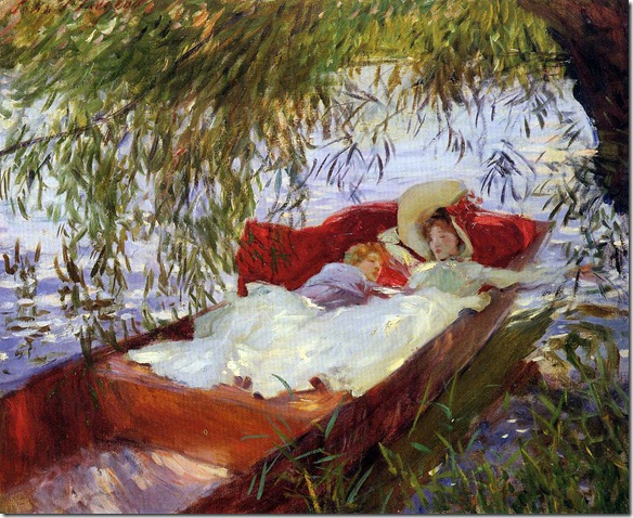 Sargent-John-Singer-Two-Women-Asleep-in-a-Punt-under-the-Willows
