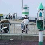 ijmuider pier in IJmuiden, Noord Holland, Netherlands