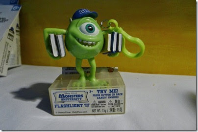 Monster University Mike Flashlight keychain