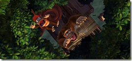 Donkey Kong Country Tropical Freeze, Diddy e Donkey caindo