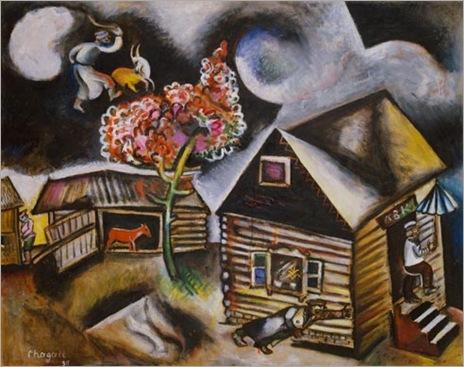 Lluvia de Marc Chagall 1911