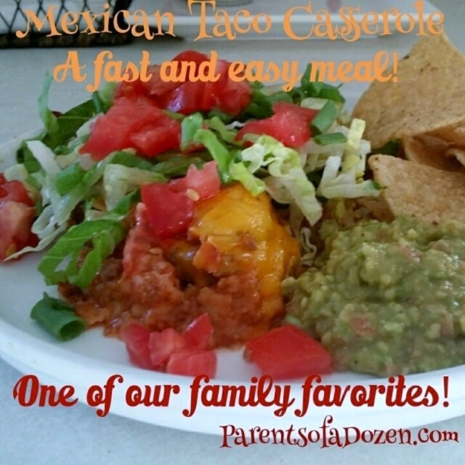 Mexican Taco Casserole! So yummy and easy!