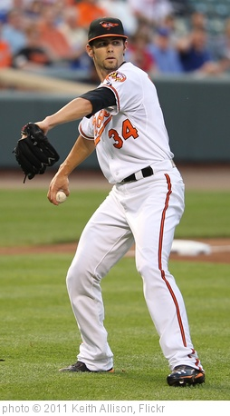 'Baltimore Orioles starting pitcher Jake Arrieta (34)' photo (c) 2011, Keith Allison - license: http://creativecommons.org/licenses/by-sa/2.0/