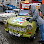 old Trabi cars in Berlin, Berlin, Germany
