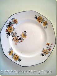 Homer Laughlin Golden Roses plate