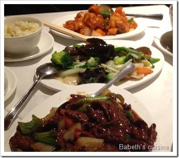repas chinois à Londres