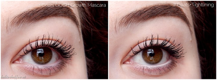 GOSH Growth Mascara application