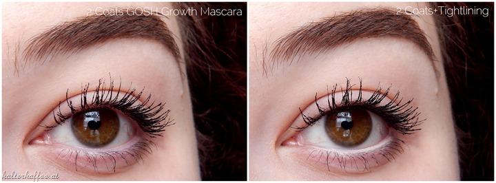 GOSH Growth Mascara application