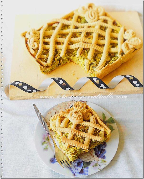 Torta salata con zucchine e senape
